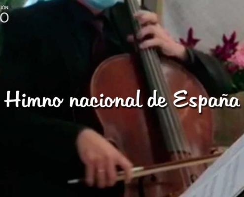 Himno nacional de España en bodas militares, por dúo de violín y violonchelo, Agrupación Capricho.